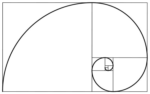 enquadramentos de fotos e vídeos fibonacci