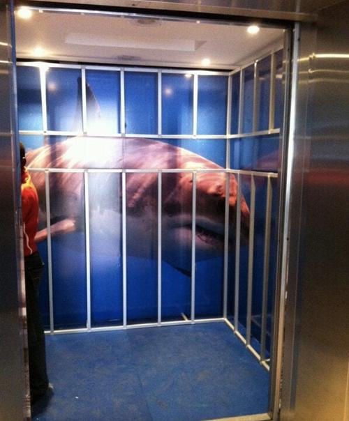 mídia em elevador tubarão