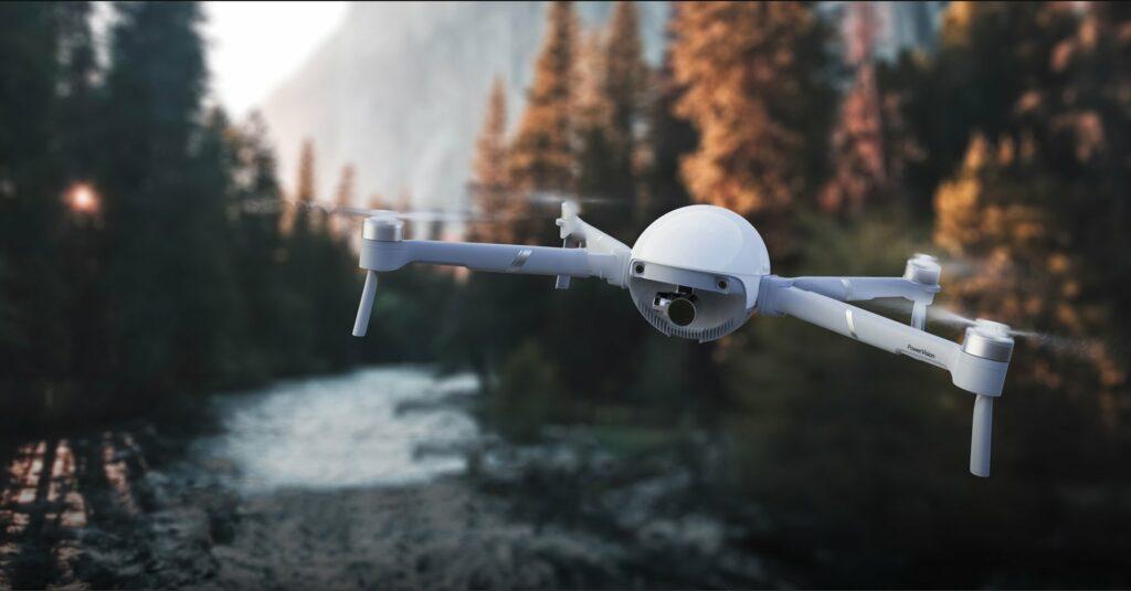 drone com câmera portátil